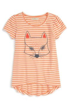 Tucker + Tate Stripe Graphic High/Low Tee (Toddler Girls, Little Girls & Big Girls) available at #Nordstrom