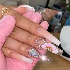 Bling Acrylic Nails, Drip Nails, Best Acrylic Nails, Summer Acrylic Nails, Neon Nails, Rhinestone Nails, Bling Nails, Purple Nails, Summer Nails