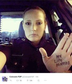 Blue lives matter. Respect our law enforcement officers.
