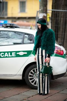 No. 2 of the Best-Dressed People from MFW- Yoyo Cao