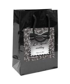 Elegent Black Bow Tie Wedding Welcome Bag by 4WeddingWelcomeBags, $2.50