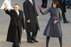 Looking happy!!   The President and Mrs. Obama walking part of the way back to the White House - down Pennsylvania Avenue.