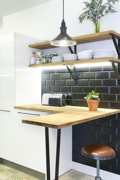 Barra de cocina de madera
