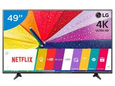 "Smart TV LED 49"" LG 4K/Ultra HD 49UF6800 WebOs - Conversor Digital Wi-Fi 2 HDMI 1 USB"