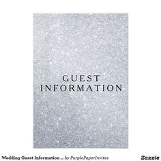 Wedding Guest Information Card Elegant Glitter