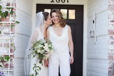 i love the outfit and loose blouse on the bride on the right. Stunning!