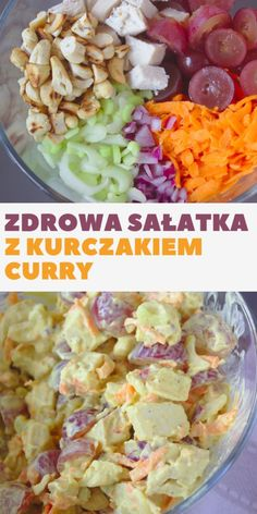 Discover recipes, home ideas, style inspiration and other ideas to try. Salad Recipes, Healthy Recipes, Tzatziki, Coleslaw, Potato Salad, Curry, Good Food, Food And Drink, Health Fitness
