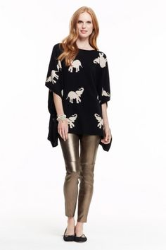 Ramani Cashmere Elephant Sweater-http://www.calypsostbarth.com/clothing/sweaters/view-all/ramani-cashmere-elephant-sweater