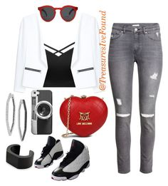 """""""#NewYork #Tourist #Shopping #Comfortable #Cute"""" by treasures-ive-found on Polyvore featuring H&M, MANGO, NIKE, Love Moschino, Illesteva, Casetify and NOVICA"""