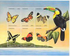 Tanzania - Butterflies, 1999 - Sc 1966 Sheetlet of 6 MNH