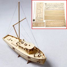 1 50 Ship Assembly Model DIY Kits Wooden Sailing Boat Scale Decoration Toy Gift for sale online Wooden Boat Kits, Wooden Boat Building, Wooden Boats, Wooden Boat Plans, Deco Restaurant, Build Your Own Boat, Boat Design, Small Boats, Model Trains