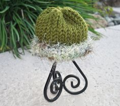 Knitted newborn beanie by Carladeannesboutique on Etsy, $10.00