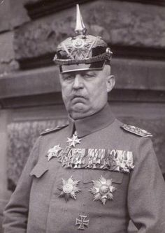Erich Friedrich Wilhelm Ludendorff (sometimes referred to as von Ludendorff) (9 April 1865 – 20 December 1937) was a German general, victor of Liège and of the Battle of Tannenberg. From August 1916 his appointment as Quartermaster general made him joint head (with Paul von Hindenburg), and chief engineer behind the management of Germany's effort in World War I until his resignation in October 1918.