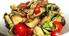 Penne im Topf: Auberginen - Tomaten - Salat