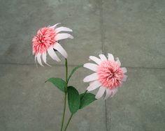 Echinacea Raspberry Truffle - Coneflower | paper flower - craft tutorial