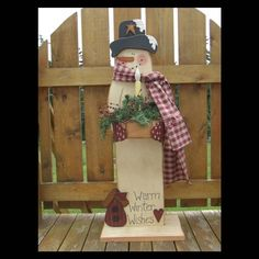 Digital Pattern Packet , Primitive Snowman , Painting Wood