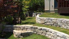 石積み完了: 庭や煌久が手掛けたロックガーデンです。 Sidewalk, Dining Room, Patio, Garden, Outdoor Decor, House, Design, Home Decor, Garten