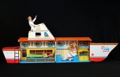 Vintage 1974 Barbie Dream Boat Chris Craft Yacht Play Set by Mattel