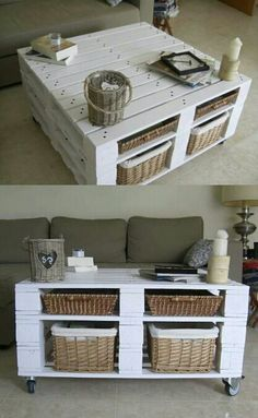 Mesa de palets- must do this with my left over pallets for the conservatory!