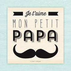 Petit papa - Tampon caoutchouc - Craft Origine - Craft Origine