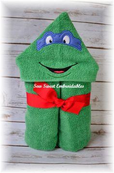 Ninja turtle Etsy listing at https://www.etsy.com/listing/220663403/ninja-turtle-inspired-hooded-towel-with
