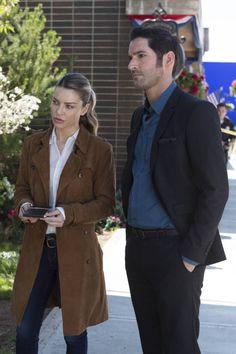 Tom Ellis and Lauren German in Lucifer Season 2