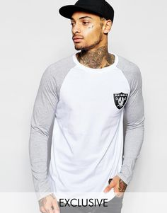 Majestic+Raiders+Raglan+Long+Sleeve+T-Shirt Raiders, Long Sleeve, Sleeves, Mens Tops, T Shirt, Asos, Christmas, Fashion, Yule