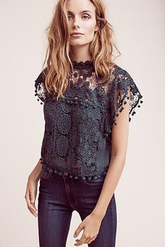 Cropped Guerie Shell - anthropologie.com