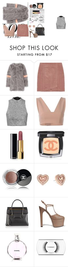 """""""∞ Shrimps Ariel"""" by andrea-moen ❤ liked on Polyvore featuring Shrimps, Topshop, T By Alexander Wang, Chanel, Michael Kors, Tom Ford, Gucci and MAC Cosmetics"""