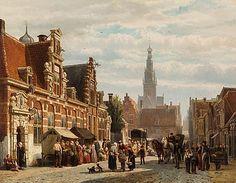 Mastenbroek, Johan Hendrik van - Alkmaar, met het Huis van Achten (Provenhuis)