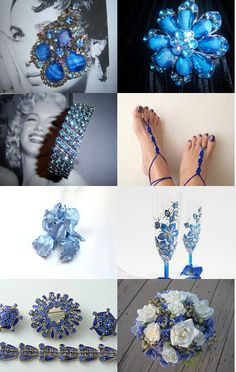 --Pinned with TreasuryPin.com Something Blue Wedding Gems