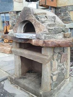Custom Pizza ovens --- Yes please! Wood Oven, Wood Fired Oven, Wood Fired Pizza, Pizza Oven Outdoor, Outdoor Cooking, Outdoor Kitchens, Fire Pit Pizza, Bread Oven, Four A Pizza