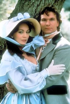 Lesley-Ann Down and Patrick Swayze as Madeline Fabray and Orry Main - North and South - 1985