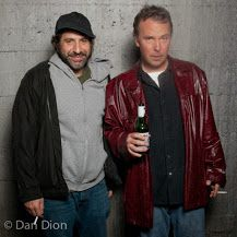 Portrait of comics Dave Attell and Doug Stanhope by photographer Dan Dion.