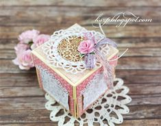 Hello everyone :) Today I want to share with you an exploding box. It was a birthday gift for my niece. Wild Orchid, Exploding Boxes, Pop Up Cards, Little Boxes, Folded Cards, Quilling, Orchids, Diy And Crafts, Decorative Boxes