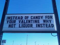 Valentine's Day Liquor Store Sign Blah Blah Blah Drink | Happy Place