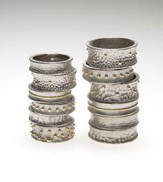 So Young Park Studio / Paladium and Gold Rings; Ozdobne pierścionki z palladu i złota także nadają się na obrączki ślubne.