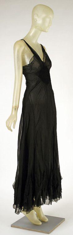 Evening dress Madeleine Vionnet  (French, Chilleurs-aux-Bois 1876–1975 Paris)  Date: 1937 Culture: French Medium: silk. Sideway