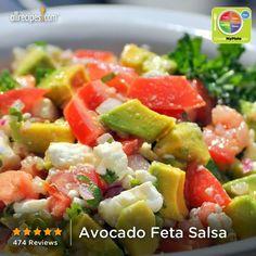 Avocado Feta Salsa from Allrecipes.com #myplate #veggies #dairy