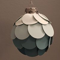DIY Ombre ornament using paint chips.