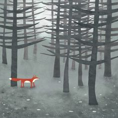 Why am I falling in love with so many cute works of art about foxes? This one is definitely SQUEE.