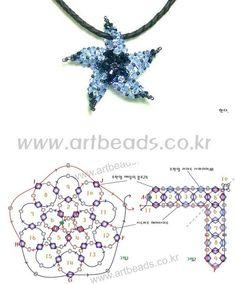 Beaded Starfish  PATTERN artbeads