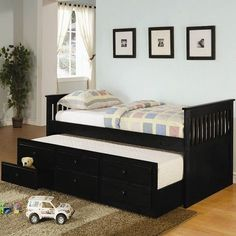 La Salle Twin Captain's Bed With Trundle And Storage Drawers