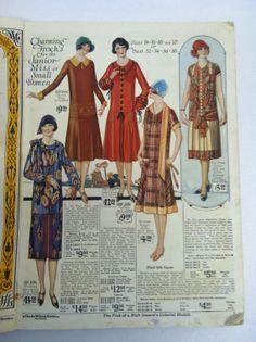 Vintage 1920s Fashion Catalog 20s 1926 by VintageClothingDream, $80.00