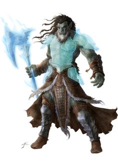 m Half Orc Barbarian w Mage Armor & Magic Battle Axe hilvl