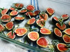 Roasted Figs with Honey & Rosemary