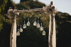 Gorgeous Ceremony Arbor with Baby's Breath #ceremony #arbor #arch
