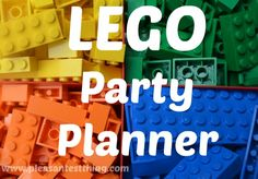 Invitations, Games, Decorations, Favors - everything you need for a sweet & simple LEGO party! | The Pleasantest Thing