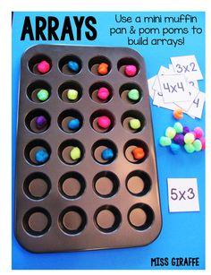 Miss Giraffe's Class: How to Teach Arrays - Great ideas!