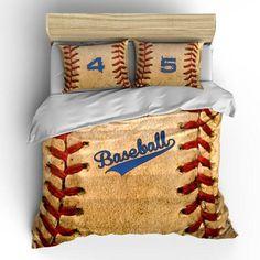 Vintage Baseball Theme Bedding Set, Duvet or Comforter